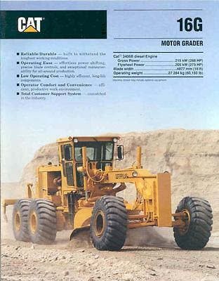 1993 Caterpillar 16G Construction Motor Grader Brochure mw7403-9Y6XBD