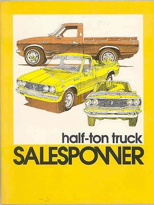 1975 Toyota Half Ton Pickup Product Guide Salesman's Book Brochure wr7400-LB6WTF