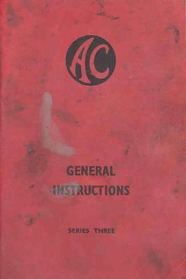 1948 A.C. Series 3 Owner's Manual fo1-AMWD4C