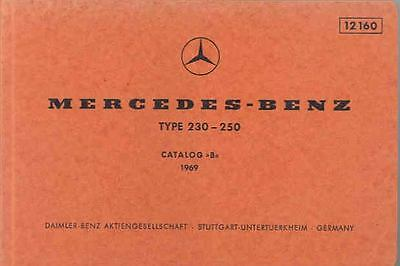 1969 Mercedes Type 230 250 Illustrated Parts Book fo1120-8VPAPJ
