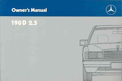 1988 Mercedes Type 190D 2 5 Owner's Manual fo1257-8PU529