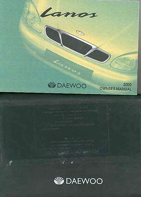 2000 Daewoo Lamos Owner's Manual and Pouch fo249-T1ZC81