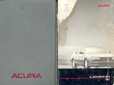 1987 Acura Legend Owner's Manual and Pouch fo3-FGYKGC