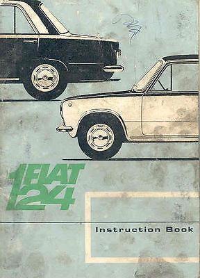 1966 Fiat 124 Owner's Manual fo354-YK73UF
