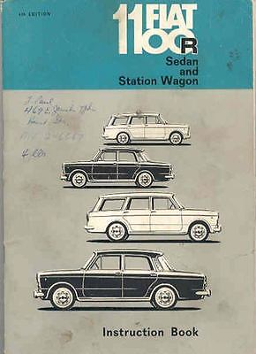 1967 Fiat 1100R Owner's Manual fo363-O9NMF9