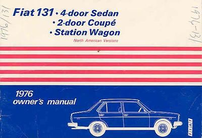 1976 Fiat 131 Owner's Manual fo397-CHR45J
