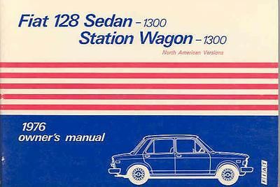 1976 Fiat 128 Sedan and Wagon 1300 Owner's Manual fo395-9AHQ6S