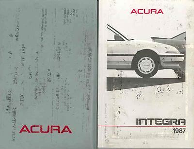 1987 Acura Integra Owner's Manual and Pouch fo4-YHWYIY
