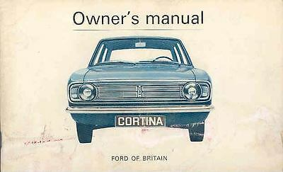 1967 Ford of England Cortina Owner's Manual fo446-NMVY12