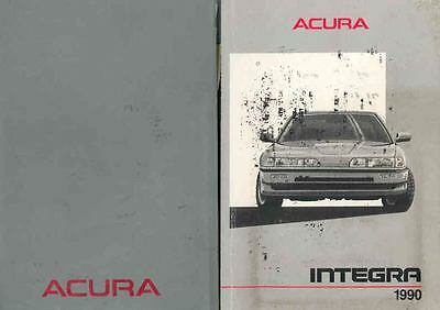 1990 Acura Integra 4-Door Owner's Manual and Pouch fo575-6XKPLA