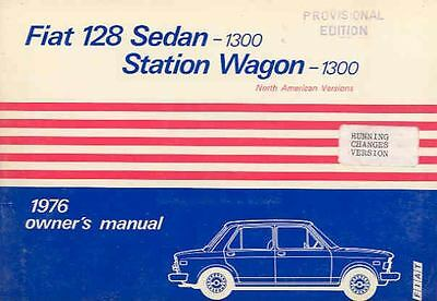 1976 Fiat 128 1300 Owner's Manual changes version fo603-WEWSCN