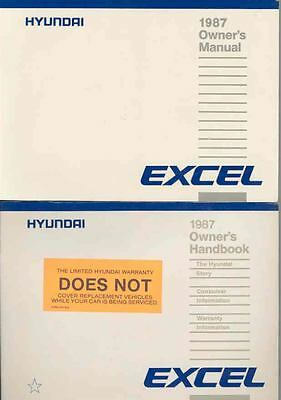 1987 Hyundai Excel Owner's Manual and Pouch fo664-KSO7M2