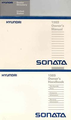 1989 Hyundai Sonata Owner's Manual and Pouch fo670-X5SS5M