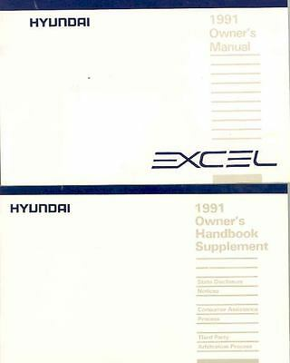 1991 Hyundai Excel Owner's Manual and Pouch fo679-QV3HJL