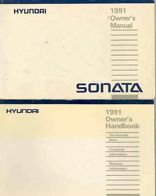 1991 Hyundai Sonata Owner's Manual and Pouch fo682-UI4KPA