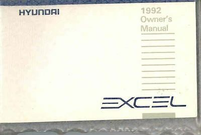1992 Hyundai Excel Owner's Manual and Pouch fo687-OKSPY2
