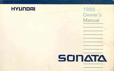 1992 Hyundai Sonata Owner's Manual fo689-FENTIG