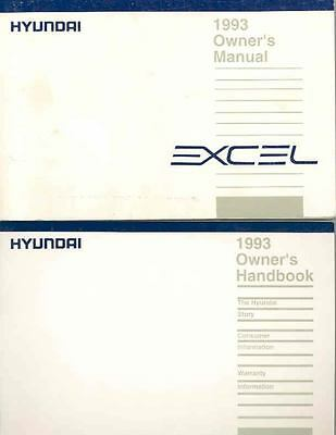 1993 Hyundai Excel Owner's Manual with booklet fo694-24AC6A