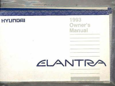 1993 Hyundai Elantra Owner's Manual and Pouch fo693-BYFAUV