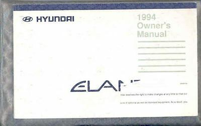 1994 Hyundai Elantra Owner's Manual and Pouch fo698-Y34O4C