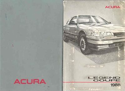 1988 Acura Legend Coupe Owner's Manual and Pouch fo7-J6YK7K