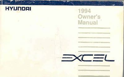 1994 Hyundai Excel Owner's Manual fo699-VSR6OO