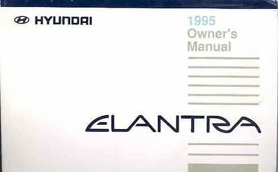 1995 Hyundai Elantra Owner's Manual fo703-4YAR2D