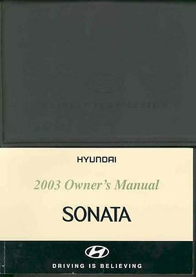 2003 Hyundai Sonata Owner's Manual and Pouch fo712-MZVN1P