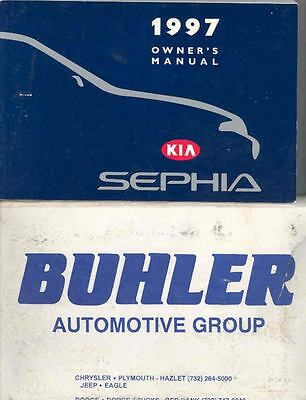 1997 Kia Sephia Owner's Manual and Pouch fo775-JGD55E