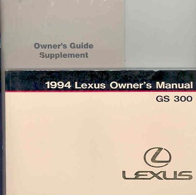 1994 Lexus GS300 Owner's Manual with booklet fo800-J3QXSS