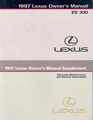 1997 Lexus ES300 Owner's Manual with booklet fo803-R2HGOE