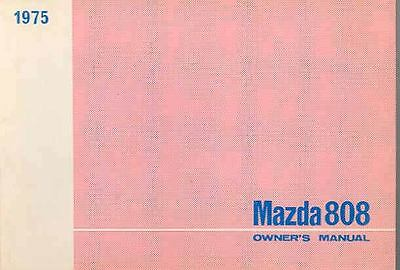 1975 Mazda 808 Owner's Manual Draft fo880-XCWG8A