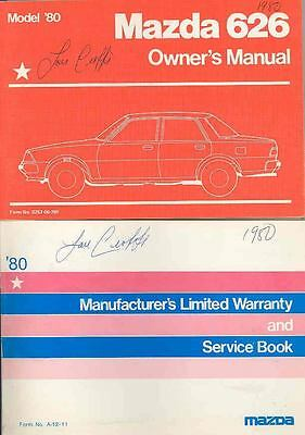 1980 Mazda 626 Owner's Manual with booklet fo895-ZIG9RN