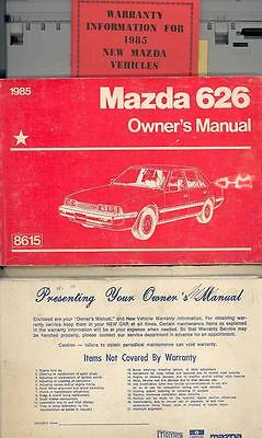 1985 Mazda 626 Owner's Manual and Pouch fo911-6W7IVE
