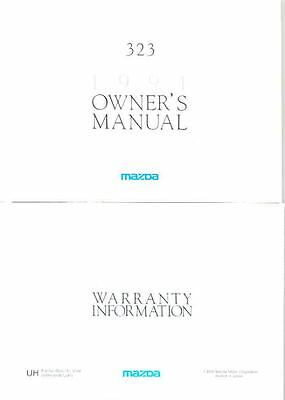 1991 Mazda 323 Owner's Manual and Pouch fo944-7DHRAU