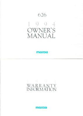 1994 Mazda 626 Owner's Manual with booklet fo966-K2TS8K