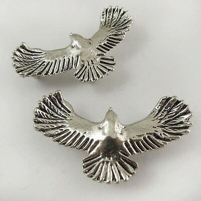 20X Vintage Style Silver Tone  Fly Bird Eagle Pendant Charms Findings 35*20*2mm