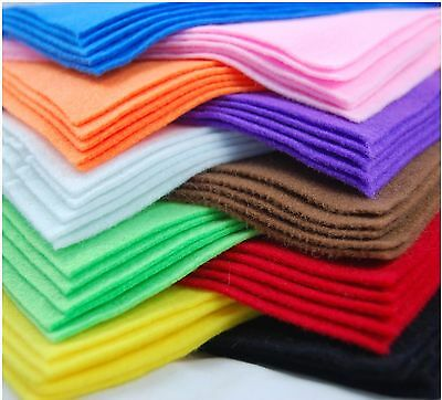 A4 Felt Fabric Sheets for Arts and Crafts, Many Colours & Quantities to Choose