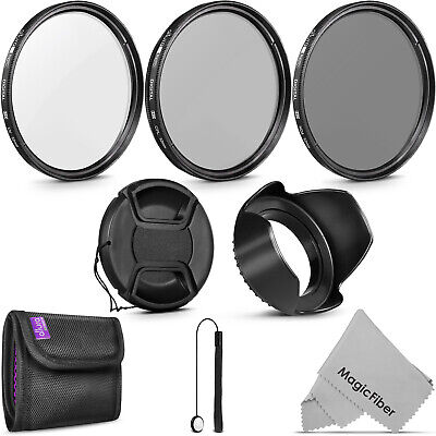 52MM Vivitar Filter Kit UV CPL FLD with Pouch for Nikon D7100 D5200 D3300 D3200