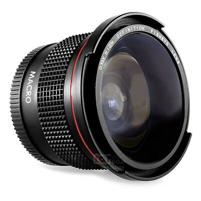 Altura Photo® 58MM 0.35x Fisheye Wide Angle Lens /w Macro for Canon DSLR Cameras