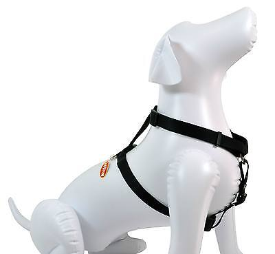 "NEW Quality Dog 3/4""W Nylon Harness Black Medium 20-30"""