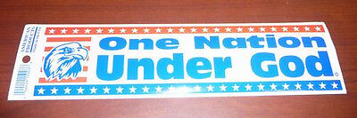 Lot of 100 Patriotic One Nation Bumper Stickers