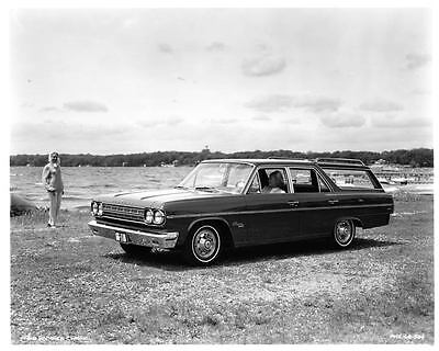 1966 AMC Rambler Classic Station Wagon Factory Photo ad7758-6G45JC