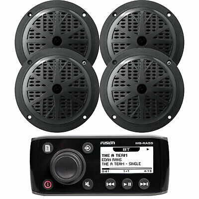 KMRD275BT Outdoor Marine Boat CD MP3 USB iPod iPhone Stereo 4 Speakers /Cover