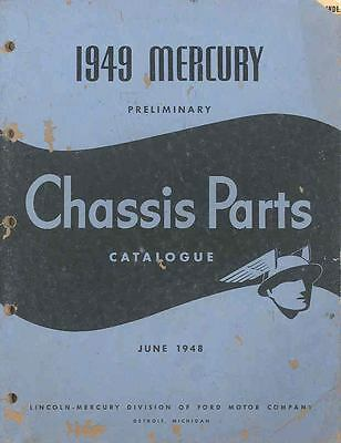 1949 Mercury Chassis Illustrated Preliminary Parts Book I402-HIGW7F