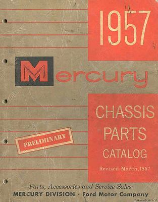 1957 Mercury Chassis Illustrated Preliminary Parts Book I427-12JFVH