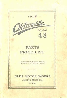1916 Oldsmobile Model 43 Illustrated Parts Book I521-MHRTI3