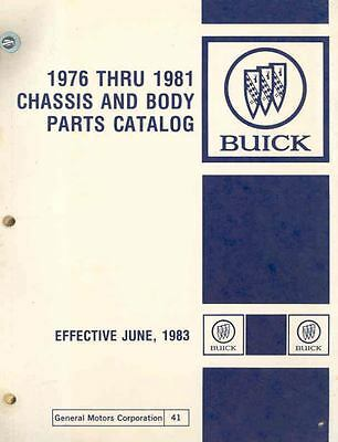 1976 1977 1978 1979 1980 1981 Buick Chassis & Body Parts Book I814-NHHOGP