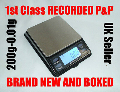 NEW Digital Scales mini table top pocket 0.01g-200g precision weighing grain oz