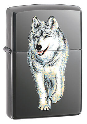 Zippo Windproof Lighter Wolf on black Ice 769 Personalised Engraved Free
